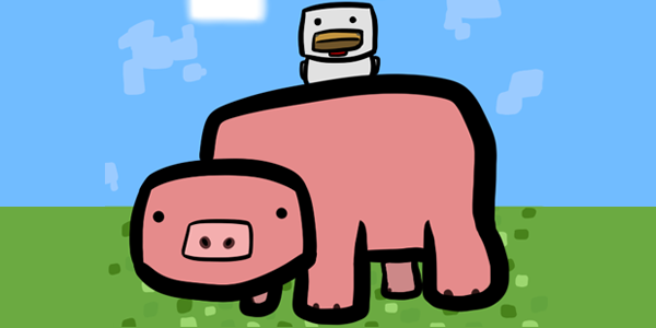 mc_fan_art__pig_and_chicken_by_jezzychan-d5buh6z